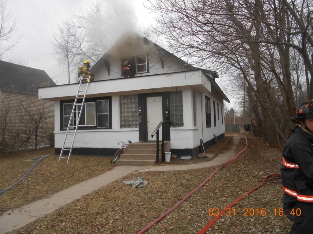 Bemidji Fire Department responds to Irvine Avenue house fire.